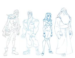 BATMAN BRAVE AND THE BOLD CHARACTERS 2 by StephenBJones