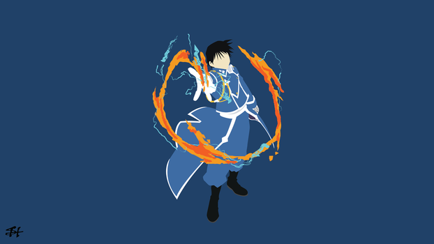 Roy Mustang (FMA) Minimalist Wallpaper by slezzy7