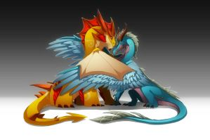 Father's and Mother's day Dragon by magmi