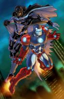 Steel Patriot n Black Falcon by gammaknight
