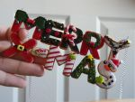 Merry X-Mas Cookie Necklace-Polymer Clay-Miniature by ThePetiteShop