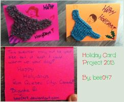 Knitted cards by Bee047