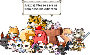Cats of MapleStory by MazdaTiger