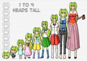 1 to 9 Heads Tall Challenge by puremrz