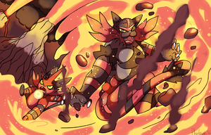 Torracat and Beltigre used Surf by Phatmon