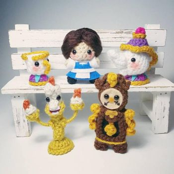 Beauty and the Beast Amigurumi by AnyaZoe