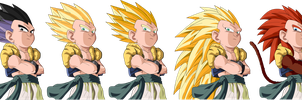 Gotenks All Forms by MrGekon