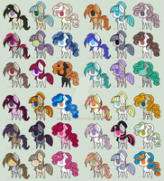 1 Point Pony Adopts :OPEN: by xXLovingponiesXx