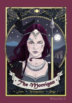 The Morrigan - Coloured page by Aurelie-S