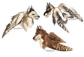 Canine Archangels by MathiasKaizer