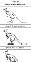 Kangaroo by drawing3steps