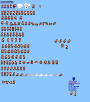 MLSS Flying Squirrel Mario Sprites Sheet by PxlCobit