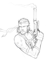 Solid Snake by night-fell