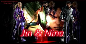 Jin and Nina Wallpaper by ScionChibi
