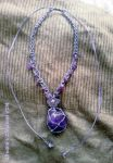 Fairy amethyst necklace by moonlightflower99