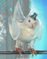 DAILY PAINT :  Mister Pigeon #82 by Dan-zodiac