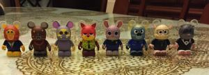 My Zootopia vinylmation collection! by Cartuneslover16