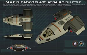 MACO Rapier Class Assault Shuttle ortho [1] [new] by unusualsuspex
