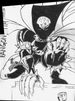 Spawn - Pen and Ink by Arukun14