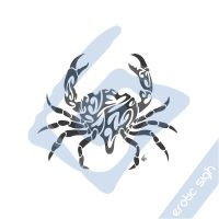 Tribal Crab tattoo design by Erotic-sigh