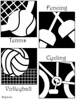 Olympic Pictographs - B and W by floweringgarlic