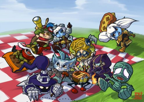 -LoL- The Yordle Party by Dalehan