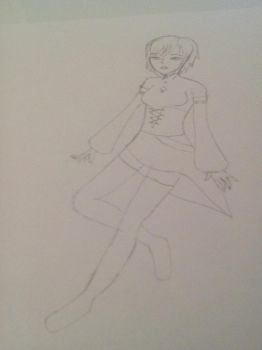 The Original character i will be developing. 28/12 by CelestialSmudjy