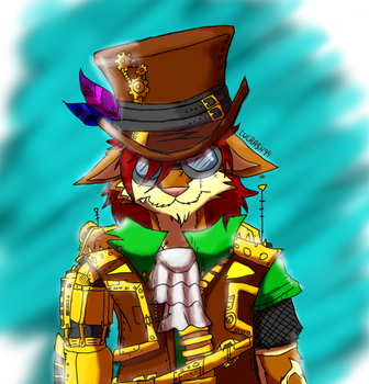 Lesther The Irwoph: Steampunk style By lucrash by Lucrash