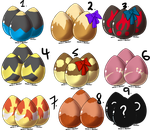 Pokemon Egg Adoptables .::ALL TAKEN::. by StarryAdopts