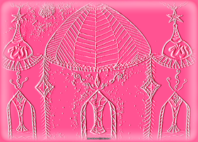 Pink Emboss Mosque by JaM-FaiRY