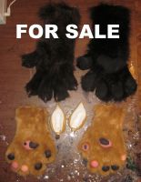 Paws FOR SALE free ears by LilleahWest