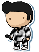 Elvis sticker by Death-of-all