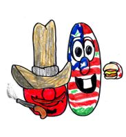 Overly-American Bob and Larry: VeggieTales by SonicClone