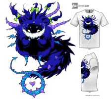 Cute, Blue, Thorn Monster by bezzalair