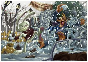 Sam and Max Christmas 2009 by Ovi-One