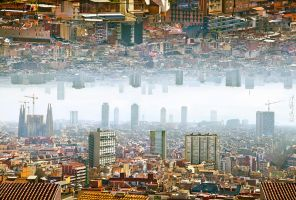 Barcelona - Double Landscape by BenHeine
