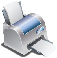 Printer Vector by CARFillustration