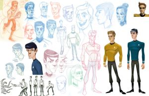 Star Trek Characters by pitakow