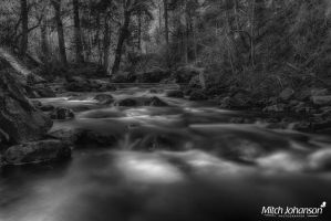 Smooth Spring River BW by mjohanson