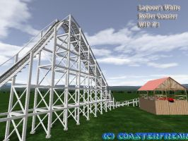 White Roller Coaster WIP 1 by Coasterfreak