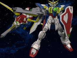 Gundam Wing Pose by maverick8