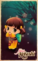 Miss Kokeshi Orange by jennduong