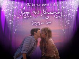 Happy 3rd iKissaversary by MyPurpleChicken