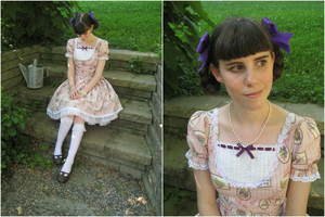 Sweet Violet Dress by sakurafairy