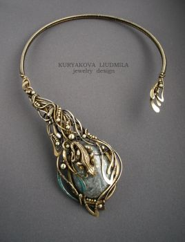 NECKLACE IGUANA by KL-WireDream