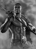 barbarian swordsman by SBraithwaite