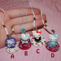 Hello Kitty Phone Charms by bandeau
