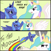 To The Moon Redux by NeonNoble