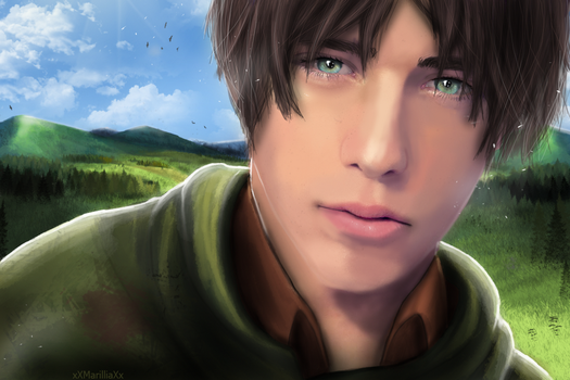 [Eren jeager] outside the wall.. by xXMarilliaXx