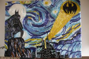 Starry Starry Night in Gotham City in beads by TiaLeTurtlex3